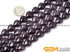 Natural Heart Love Amethyst Jewelry Making loose gemstone beads strand 15""