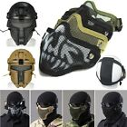 Tactical Airsoft Metal Mesh Mask Half Face Guard Protective gear Sparta Mask