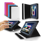 """LUXFOLIO STAND LEATHER CASE WALLET FOR ALDI MEDION LIFETAB 7"""" TABLET"""