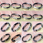 Black Rubber Stainless Steel Chain Wristband Bangle Bracelet Men Punk Cool Gift