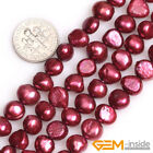 7-8mm freeform Freshwater Pearl Jewelry Making loose gemstone beads strand 15""
