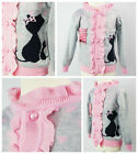 Baby Girls Toddler Hello Kitty Long Sleeve Cotton Polo Top Kids Roll Neck Shirt