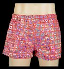 Mens Hand Made Red Hologram Square Cut Shorts, Club Gym Mardi Gras Sports Trunks