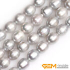 8-9mm Cultured Freshwater Pearl Gemstone Olivary Rice Beads For Jewelry Making