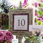 Contemporary Vintage Square Wedding Decoration Table Numbers Personalized Custom
