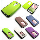 For Optimus G2 New Anti-shock / Easy View pu-leather Flip cover case DROP TESTED