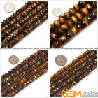 Genuine Rondelle Tiger eye Beads Jewelry Making loose gemstone beads strand 15""