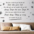 Life Goes On Butterfly Flower  Art Wall Quote Stickers Wall Decals Wall Deco
