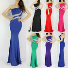 New One Shoulder Formal Evening Gown Bridesmaid Prom Dress Cocktail Party Dress