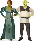 Couples Disney Fancy Dress Mens AND Shrek Ladies Fiona Book Day Costumes Outfits