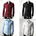 HOT DEAL PJ New Mens Luxury Casual Formal Slim Fit Stylish Dress Shirt TOPS