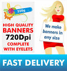 PVC VINYL BANNERS - CUSTOM SIZE - PRINTED OUTDOOR ADVERTISING SIGN DISPLAY