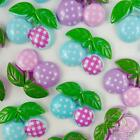 5/20/100pcs resin flatback/button blue/purple cherry  DIY embellishment craft