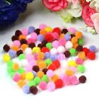 200/500pcs Assorted 8mm Mixed Color Soft Fluffy Pom Poms Pompoms New
