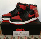 NIKE AIR JORDAN 1 OG BRED Sz UK US 7 8 9 10 11 12 13 Black Red 555088-023 Banned