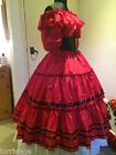 VICTORIAN/AMERICAN CIVIL WAR RIBBON DETAIL SKIRT ANY SIZE ANY COLOUR