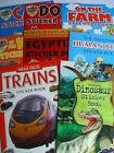 Childrens A4 Themed Sticker Activity Books Dinosaurs Cars Trains Animals & More