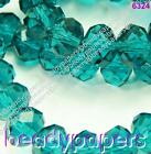 70 - 150 Glass Beads Abacus 8 mm Suncatcher Faceted Turquoise Teal Blue 6324