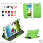Green Leather Case Cover For Samsung Galaxy S4 IV I9500 + Free Screen Protector
