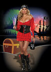 SEXY PIRATE WENCH ADULT PLUS WOMENS COSTUME XL Cuffs Corset Dress Halloween