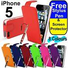 High Quality Ultra Slim PU Leather Flip Case Cover for Apple iPhone 5 5S