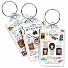 On the day YOU were Born Birthday KEYRINGS, All dates 1st January to 30th June
