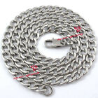 Men's Boy's Solid Stainless Steel 7mm Cuban Link Chain Hip Hop Curb Necklace