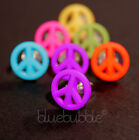FUNKY BOYS MENS SINGLE 12mm PEACE SIGN EARRING FUN COOL ROCK INDIE EMO RETRO 60s