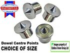 DOWEL CENTRE POINTS - Woodworking tool accessory for wood doweling - SIZE CHOICE