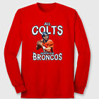 All COLTS Grow Up To Be BRONCOS Manning T-shirt jersey NFL Long Sleeve Tee