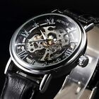 SEWOR Steampunk Wrist Analog Hand-winding Wrist Men Skeleton Mechanical Watch