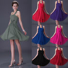 UK Stock Halter Prom Ball Women's Bridesmaid Short Cocktail Party Evening Dress