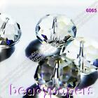 50 - 70 Glass Abacus Beads 8 mm x 6 mm Suncatchers Faceted Clear AB BOGOF 6293