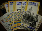 Torquay United 1975/76 76/77 77/78 HOME programmes choose from list FREE UK P&P