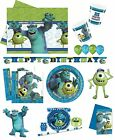 MONSTERS UNIVERSITY (DISNEY PIXAR) PARTY RANGE (Tableware/Balloons/Decorations)