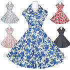 Maggie Tang 50s 60s VTG Pinup Rockabilly Costum Party Swing Dress Style-512