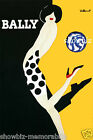Bally Yellow print poster large 4 sizes available Villemot french shoe vintage