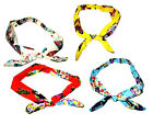 Butterfly printed bow bandeaux head wrap elasticated 4 colours summer festival