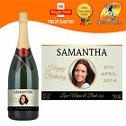PERSONALISED CHAMPAGNE PHOTO BIRTHDAY WEDDING ANNIVERSARY ENGAGEMENT LABEL