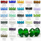 25 Colours Faceted rondelle crystal european charm bead fit charm bracelet