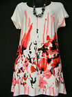 SALOOS CREAM AND PINK TOP WITH MATCHING NECKLACE BNWT SIZE 12 14 16 18 20 22