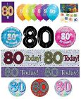 80th Birthday AGE 80 - Large Range of Party BADGES - Small/Large/Giant/Shaped