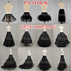 12 Style White/Black Bridal Petticoat Crinoline Underskirt Hoop/Hoopless/Mermaid