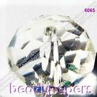 40 - 70 Glass Beads Abacus Shaped 10 mm x 7 mm Suncatcher Faceted Clear AB 6294