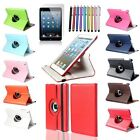 PU 360 leather case for iPad 2 3 4 standing Rotating swivel degree Folio Apple