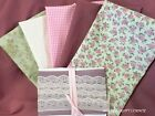 fat quarter bundle 100% cotton vintage Creams,Dusky Pinks & Shabby chic Roses