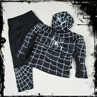 BNWT Halloween Boys Girl Black Spiderman Superhero Fancy Party Costume 2-3 Years