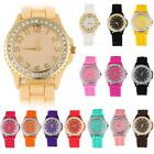 New Bling Crystal Ladies Women's Girl Jelly Silicone Analog Quartz Wrist Watch