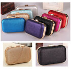 New Fashion Women Clutch Bag Box Evening Party Glitter Chain HandBags Wallet