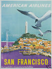 American airlines vintage print poster, large 4 sizes available, Airline 107